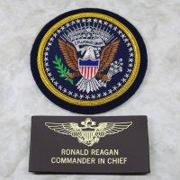 アメリカ合衆国大統領エンブレム 《ネームタグ(REAGAN 海軍ウイング)付》